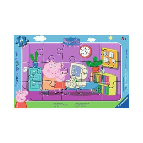 RAVENSBURGER PEPPA PIG AT THE COMPUTER 15P