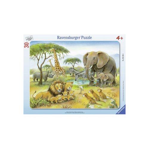 Ravensburger kehyspalapeli Afrikan eläimet 30 palaa