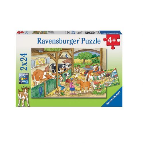 RAVENSBURGER A DAY AT THE FARM 2X24P