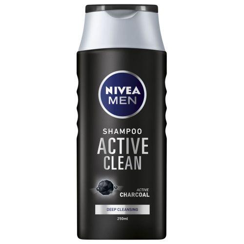 NIVEA MEN SHAMPOO ACTIVE CLEAN 250 ML