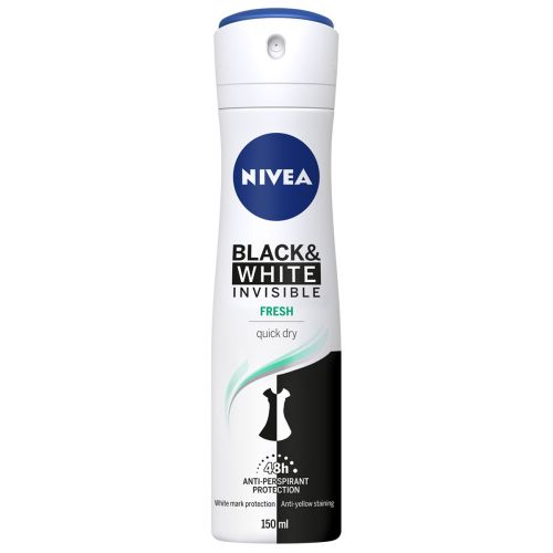 NIVEA INVISIBLE FOR BLACK & WHITE FRESH DEO SPRAY 150 ML