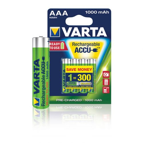 VARTA AKKUPARISTO POWER AAA 1000MAH 4KPL
