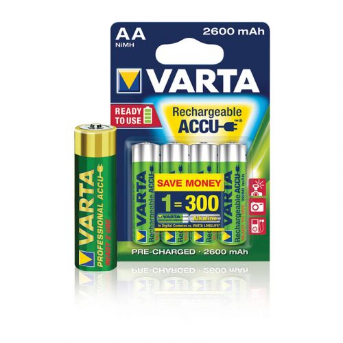 VARTA AKKUPARISTO POWER AA 2600MAH 4KPL