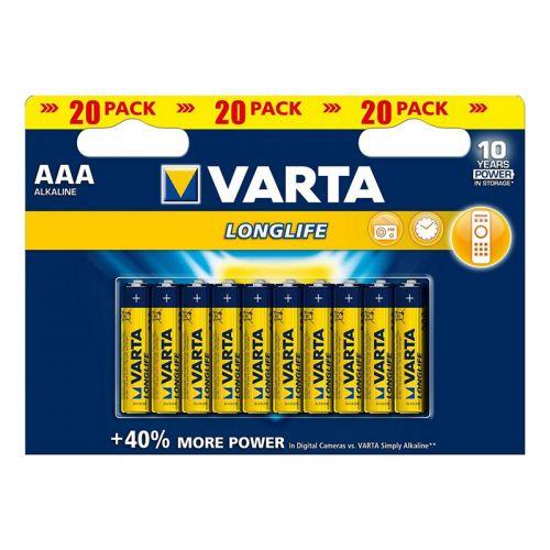 VARTA PARISTO LONGLIFE AAA 20-PACK