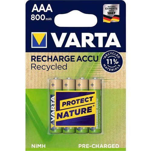 VARTA RECYCLED ACCU AAA 800 MAH, 4 KPL