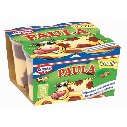 DR.OETKER PAULA VANILJA- SUKLAAVANUKAS 125G 4-PACK 500 G