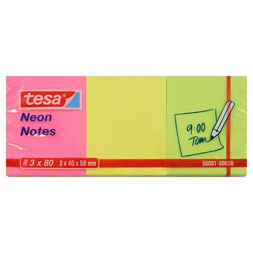 TESA VIESTILAPPU NEON 3X80 40X50 VÄRILAJ