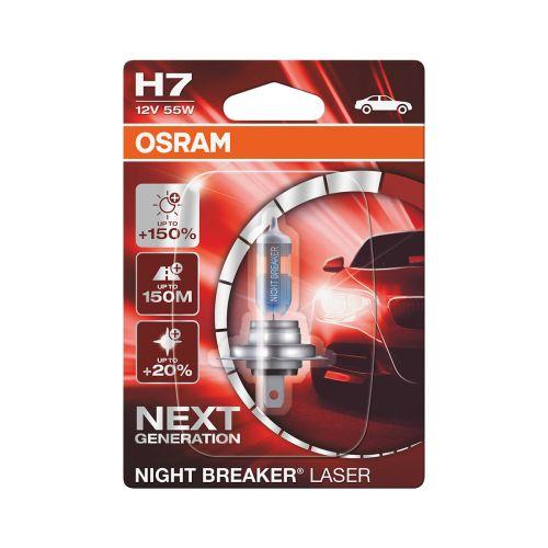 OSRAM H7 NIGHT BREAKER LASER +150% POLTTIMO 12V 55W BLI