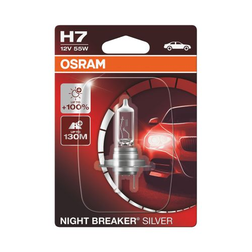 OSRAM H7 NIGHT BREAKER® SILVER 1 KPL     100%