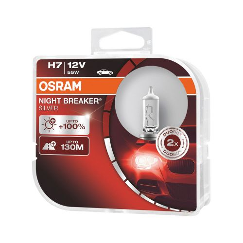 OSRAM H7 NIGHT BREAKER SILVER 2 KPL 100%