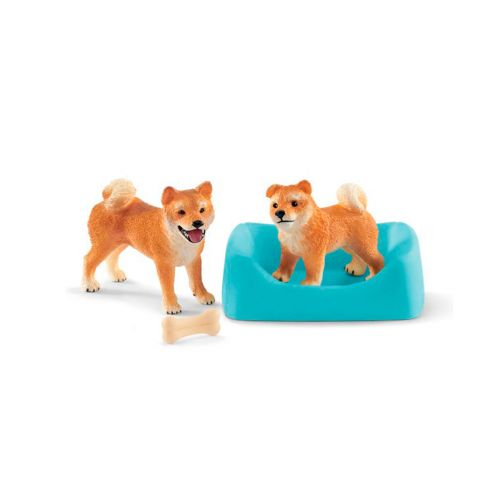 SCHLEICH SHIBA INU MOTHER AND PUPPY