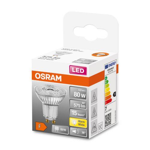 OSRAM LED STAR PAR16 KOHDELAMPPU 80 36 6,9W 2700K GU10