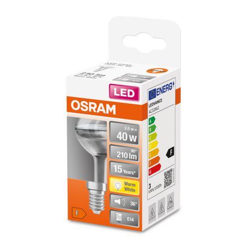 OSRAM LED STAR R50 KOHDELAMPPU 40 36 2,6W 2700K E14