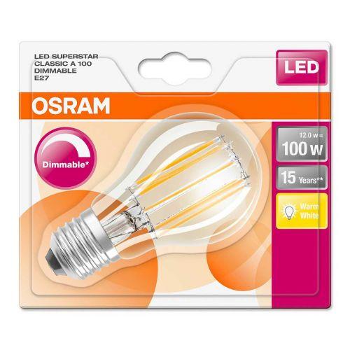Osram vakiolamppu 12W/827 filamentti E27 himmennettävä