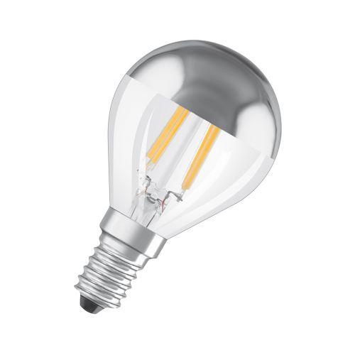 OSRAM LED PÄÄPEILILAMPPU 4W/827 FILAMENTTI E14