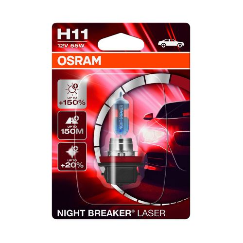 OSRAM H11 NIGHT BREAKER LASER +150% POLTTIMO 12V 55W BLI