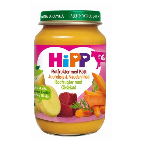 HIPP HIPP JUUREKSIA&NAUDANLIHAA 6KK LUOMU 190 G