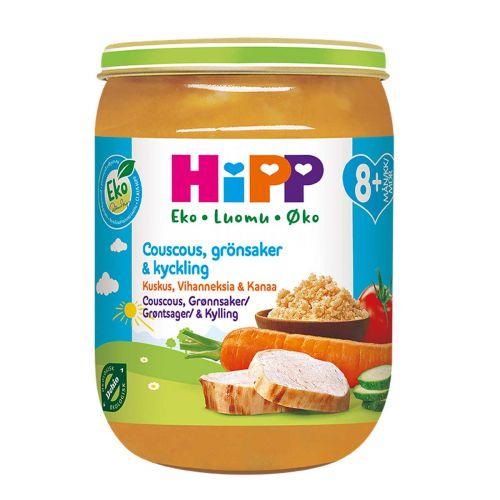 HIPP HIPP KUSKUS,VIHANNEKSIA JA KANAA 8KK LUOMU 190 G