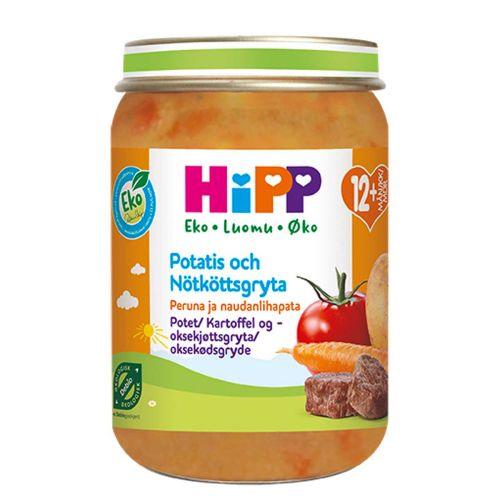 HIPP HIPP PERUNA JA NAUDANLIHAPATA 12KK LUOMU 250 G