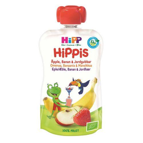 HIPP HIPPIS 6KK OMENA- BANAANI-MANSIKKA LUOMU 100 G