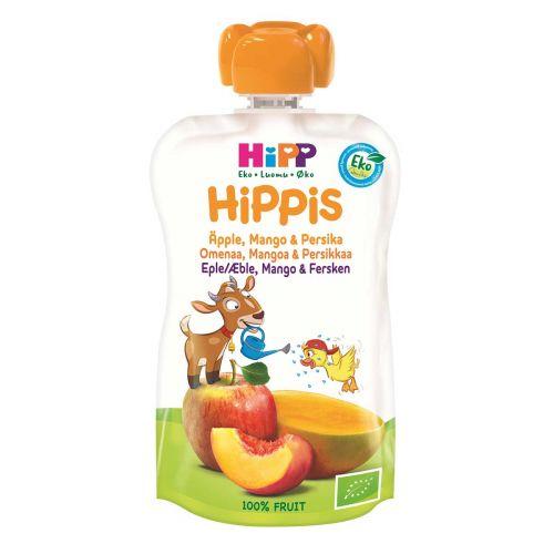 HIPP HIPPIS 4KK OMENA-MANGO-PERSIKKA LUOMU 100 G