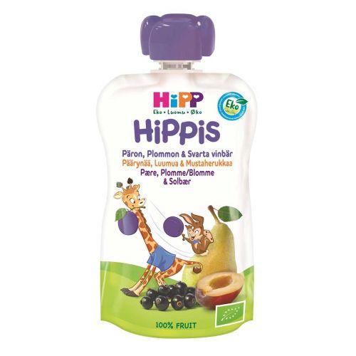 HIPP HIPPIS PÄÄRYNÄÄ, LUUMUA, MUSTAHERUKKAA LUOMU 100 G