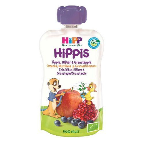 HIPP HIPPIS 6KK OMENA-MUSTIKKA-GRANAATTIOMENA LUOMU 100g