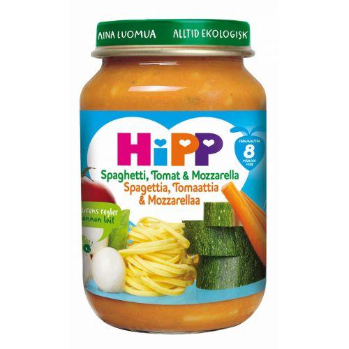 HIPP HIPP SPAGETTIA, TOMAATTIA&MOZZARELLAA 8KK LUOM 190G