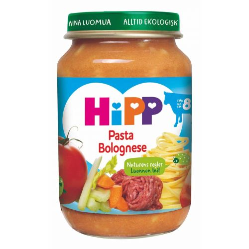 HIPP PASTA BOLOGNESE 8KK LUOMU 190 G