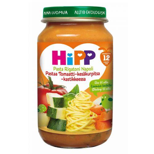 HIPP HIPP PASTAA TOMAATTI-KESÄKURPITSA-KASTIKKEESSA 12kk 220 g