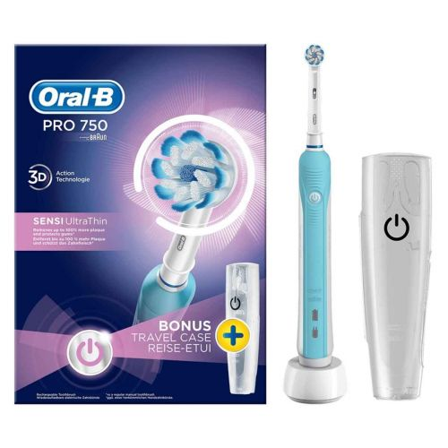 ORAL-B PRO750 SENSITIVE ULTRA THIN SÄHKÖHAMMASHARJA