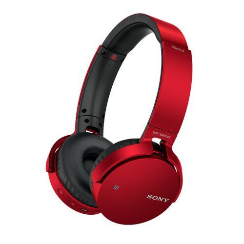 SONY MDRXB650BTB Bluetooth extra bass kuuloke, punainen