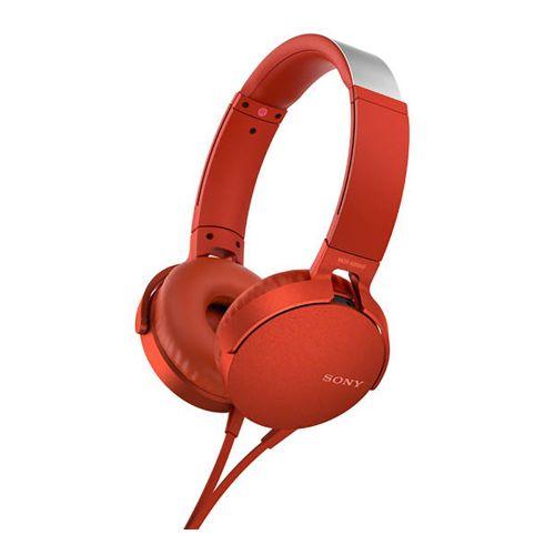SONY MDRXB550APB Extra bass kuuloke, punainen