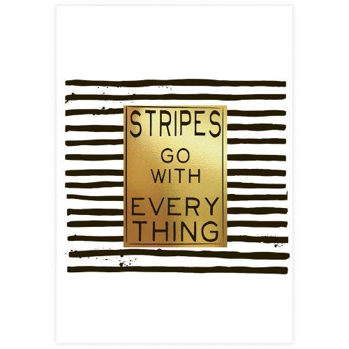 JULISTE STRIPES GOLD 21X30