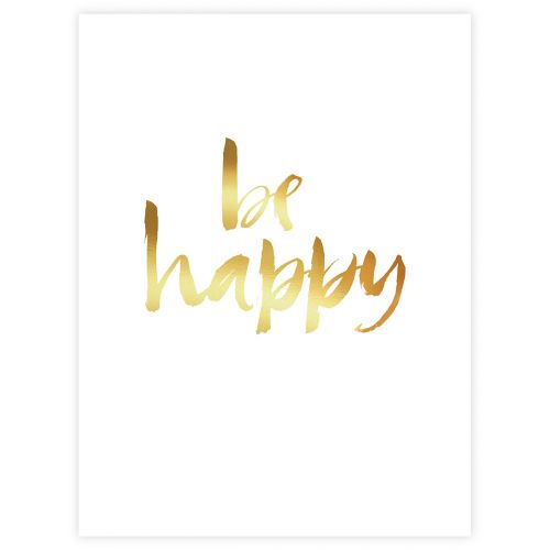 JULISTE BE HAPPY GOLD 30X40