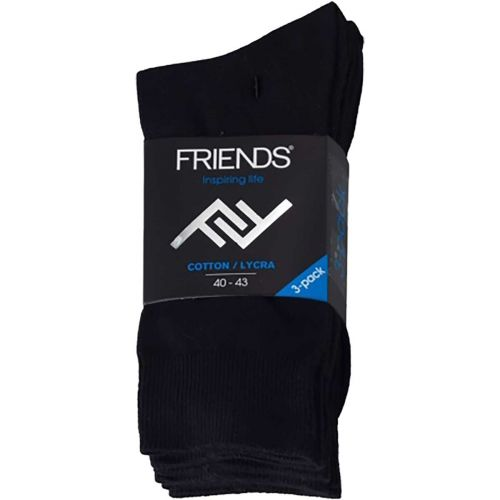 FRIENDS M. SUKAT 3-PACK 39-42 MUSTA