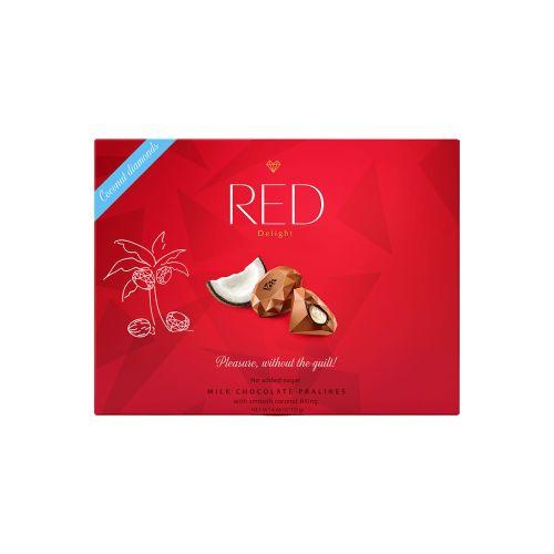 RED Maitosuklaakonvehti kookostäytteellä 132g