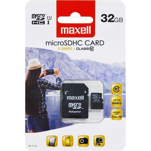 MAXELL MICRO SD HC 32GB CLASS 10 + ADAPTERI