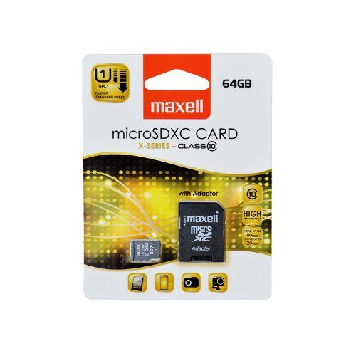 MAXELL MICRO SD XC 64GB CLASS 10 + ADAPTERI