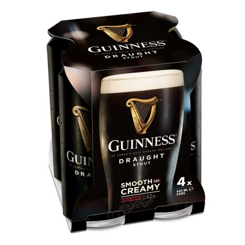 GUINNESS DRAUGHT STOUT 4,2% 0,44 TL 4-PACK 1,76 L
