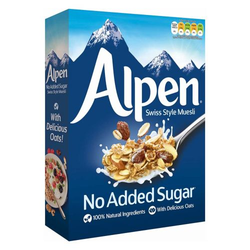 ALPEN MYSLI NO ADDED SUGAR  560 G