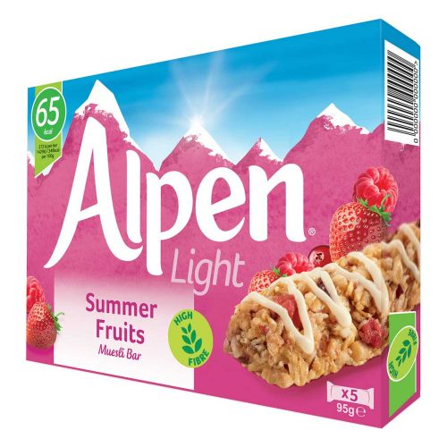 ALPEN PATUKKA LIGHT SUMMER FRUITS 5KPL 95 G