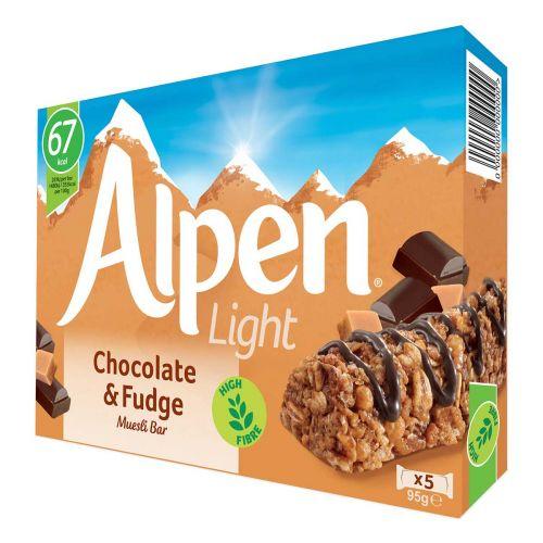 ALPEN PATUKKA LIGHT CHOCOLATE&FUDGE 95 G