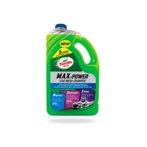 TURTLE WAX MAX POWER CAR WASH SHAMPOO 4 L