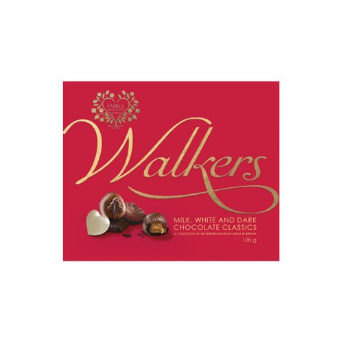 WALKERS MILK, WHITE&DARK CLASSICS 120 G
