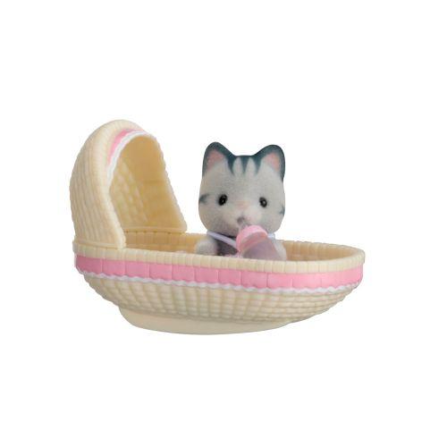 Sylvanian Families Kannettava Vauvapakkaus Kissa Kehdossa