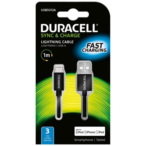 DURACELL APPLE LIGHTNING -KAAPELI 1M