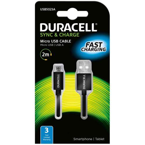 DURACELL USB - USBMICRO DATAKAAPELI MUSTA 2M