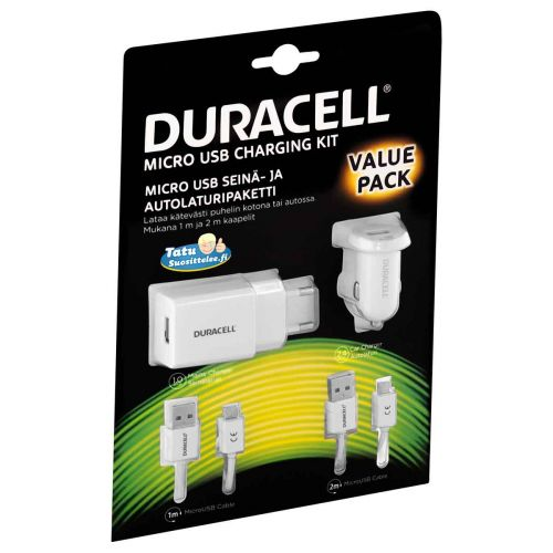 DURACELL LATAUSPAKETTI MICRO-USB