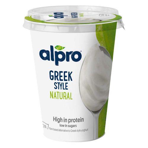 ALPRO GREEK STYLE SOIJAVALMISTE MAUSTAMATON 400 G